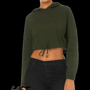 Fast Fashion Women's Cinched Cropped Hoodie Thumbnail