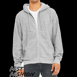 Fast Fashion Unisex Sueded Fleece Full-Zip Hoodie Thumbnail