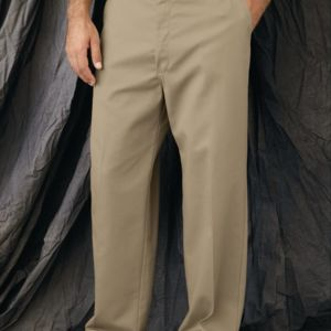Plain Front Casual Cotton Pants Thumbnail