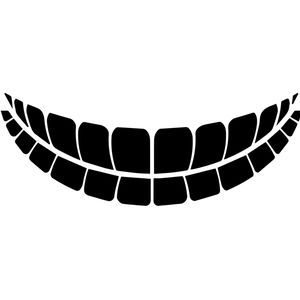 CM-20 Mask Emoji Teeth Black Ink Thumbnail