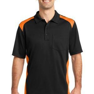 e609f8c4 CornerStone Select Snag Proof Two Way Colorblock Pocket Polo